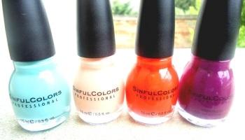 ambiance colorama avec les vernis de lt sinfulcolors - Vernis Sinful Colors