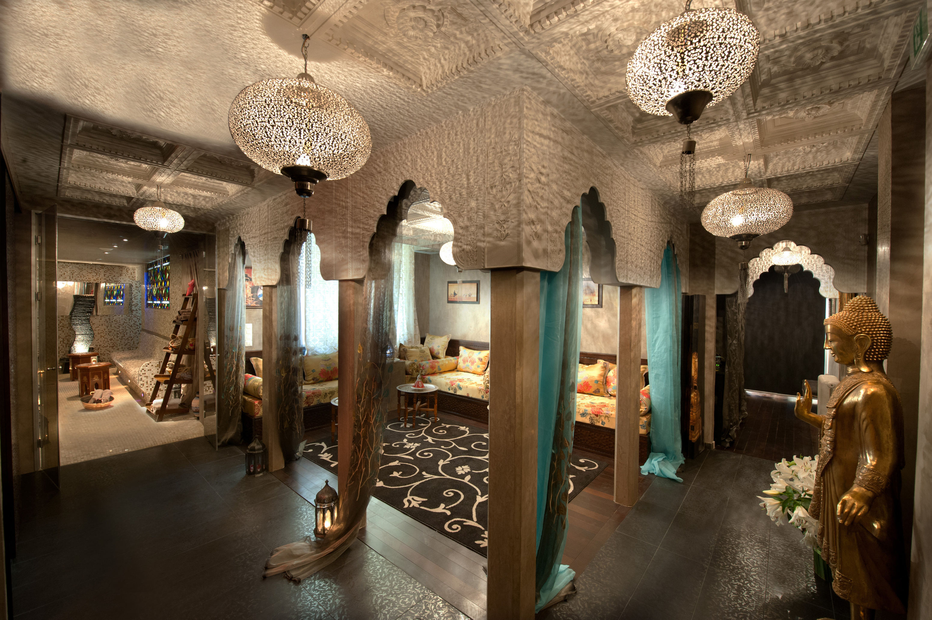 Chapp e orientale au spa hammam or 39 normes la beaut for Deco salon oriental
